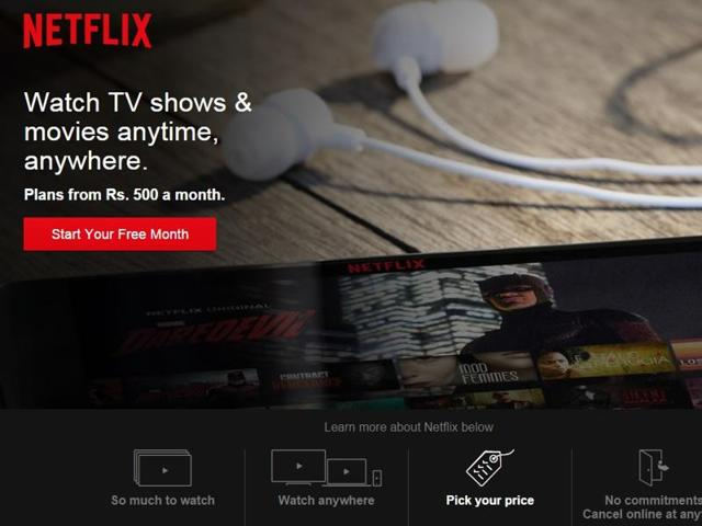 Netflix is available under three monthly packs in India -- Basic (Rs 500), Standard (Rs 650) and Premium (Rs 800).