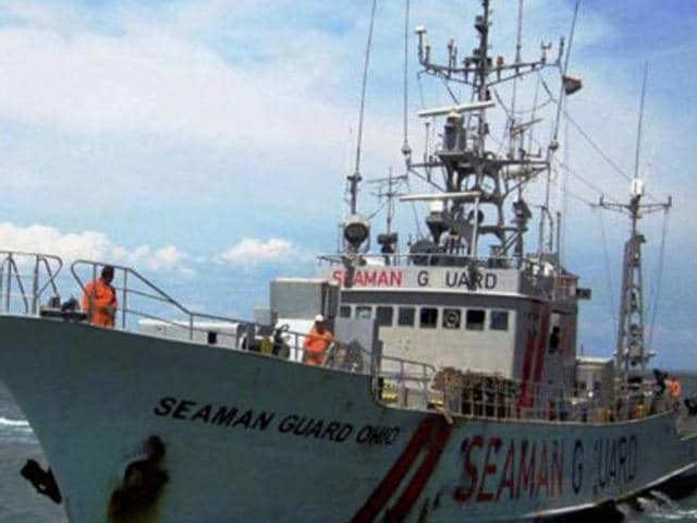 The MV Seaman Guard Ohio, which flew the Sierra Leone flag, was found about 15 nautical miles from Tuticorin port in October 2013. It is owned by Advanfort, a US company that specialises in maritime security.