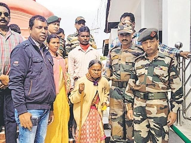 Balamdina Ekka hobbled up the stairs of Tripura Sundari temple to offer prayers, took a boat ride in the Rudrasagar lake and adored every corner of the historic Neer Mahal in Tripura escorted by dozens of Assam Rifle soldiers.
