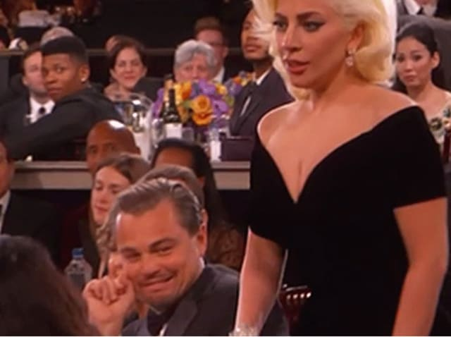 Leonardo DiCaprio's reaction to Lady Gaga at Golden Globes  was priceless.The actor went on to explain why he rolled his eyes and side-eyed the singer.