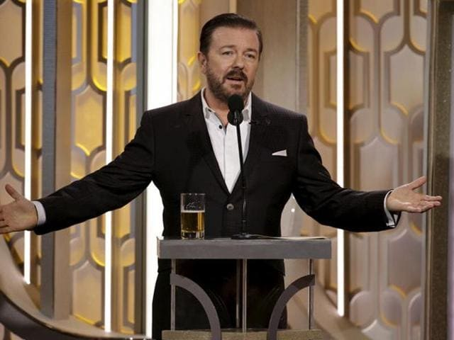 Ricky Gervais hosts the 73rd Golden Globe Awards in Beverly Hills, California.