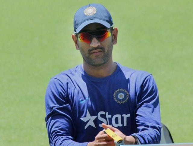 Indian cricket captain M S Dhoni during the first net session at the WACA ground in Perth.