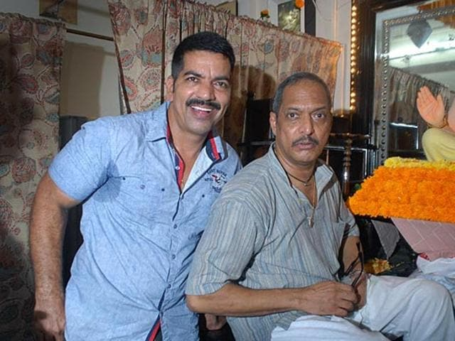 Daya Nayak with Bollywood actor Nana Patekar.