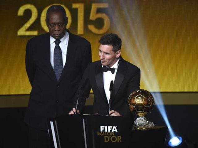 Lionel Messi  won the Fifa world player of the year award for a record fifth time in Zurich.