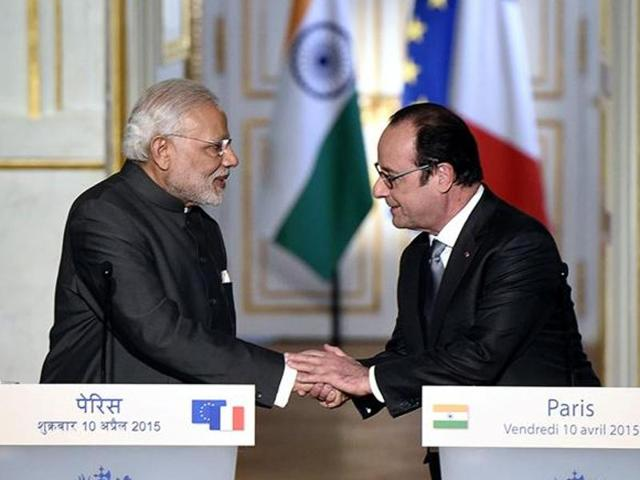 Prime Minister Narendra Modi with French President Francois Hollande.