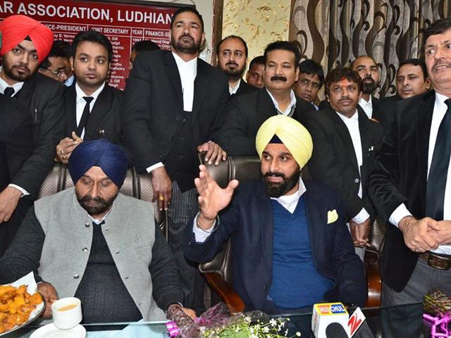 Punjab revenue and public relations minister Bikram Singh Majithia addressing media in Ludhiana on Tuesday.