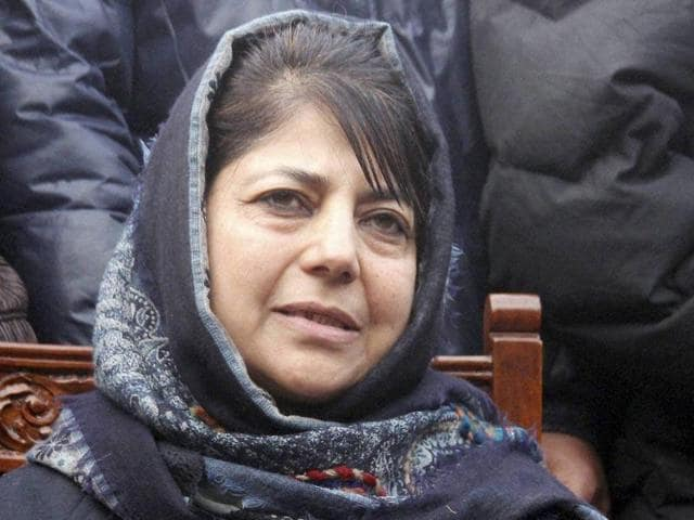 File picture of PDP president Mehbooba Mufti. Mehbooba is yet to communicate to BJP whether she will continue her party's alliance  for government formation.