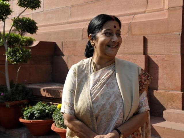Sushma Swaraj,India-Israel ties,India-Palestine ties