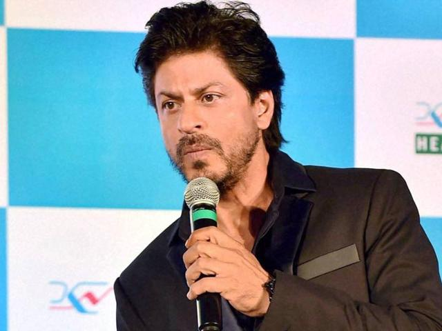 Shah Rukh Khan speaks at the launch of the coffee-table book Shades of Bengal in Kolkata on Monday.