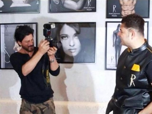 Shah Rukh Khan goes behind the camera to click photographer Dabboo Ratnani. SRK launched the star photographer's calendar on Wednesday in Mumbai. (Instagram)
