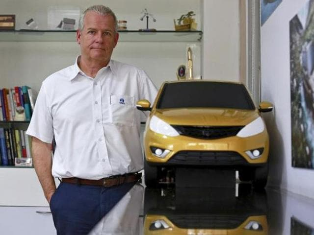 Tata Motors  will be reborn this month with a curvaceous hatchback far removed from the low-cost, boxy models often associated with taxis, kicking off an image-centred strategy for a brand with newly global aspirations.