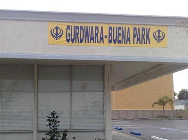 Los Angeles Gurdwara,Sikhs in America,Gurdwara vandalised
