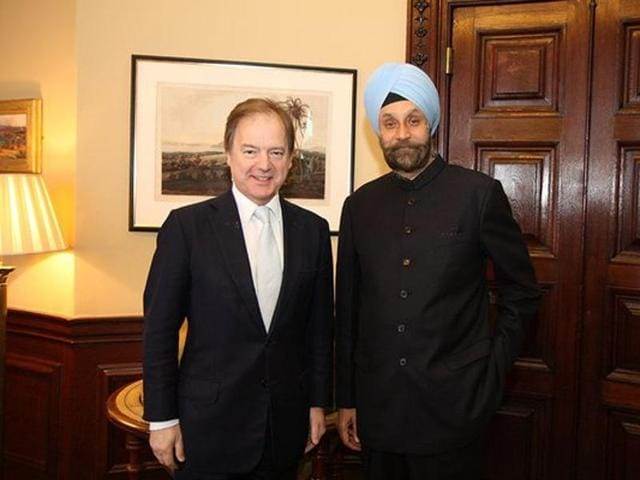 Amid dismay among campaigners and relatives of the six Britons, Foreign Office minister Hugo Swire (L) used the occasion to welcome new Indian high commissioner Navtej Sarna (R) to raise the issue on Tuesday.