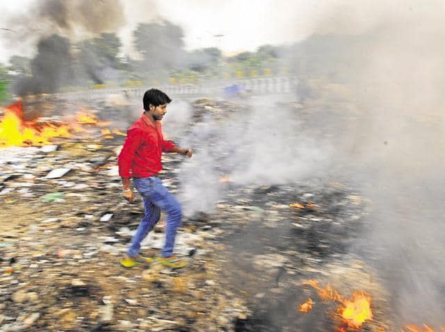 Burning garbage or leaves, one of the key causes of air pollution in the city, may now attract a fine of up to Rs 1 lakh.