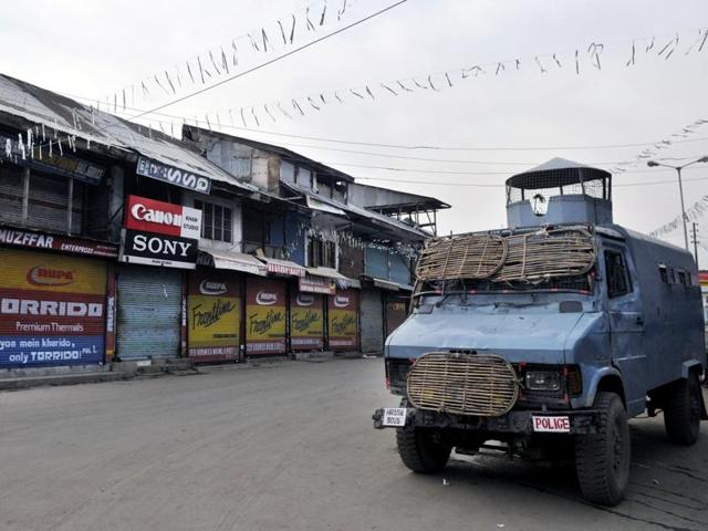 Other than a few pharmacies, almost all shops, business houses, banks and even most government offices remained closed in Pulwama.