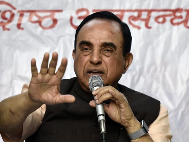 BJP Leader Subramanian Swamy
