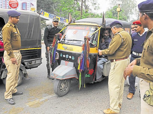 The auto drivers are on an indefinite strike from Wednesday to protest against the administration's crackdown on unauthorised and unfit autos.