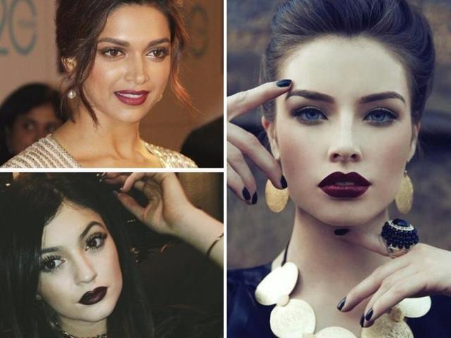 Dark Lips,Maroon Lips,Burgundy Lips
