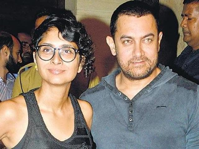 "File photo of Bollywood actor Aamir Khan and his wife Kiran Rao. Khan said he was ""alarmed"" by the recent incidents in the country. (Yogen Shah/HT Photo)"