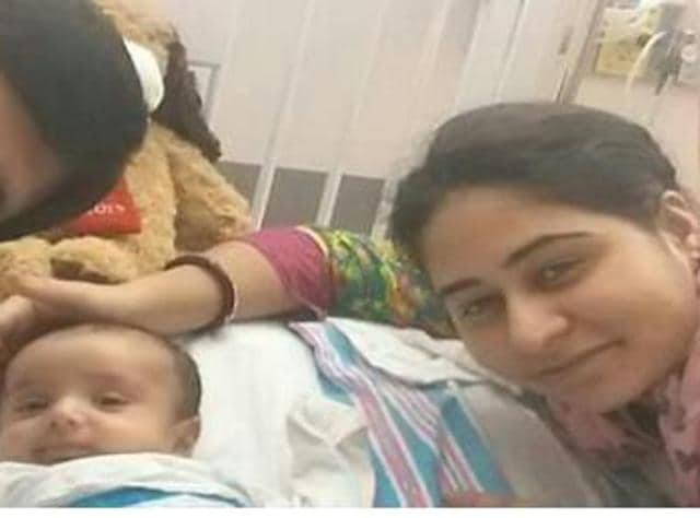 The baby, Ashvid, was handed over by child welfare officials to foster care last week.