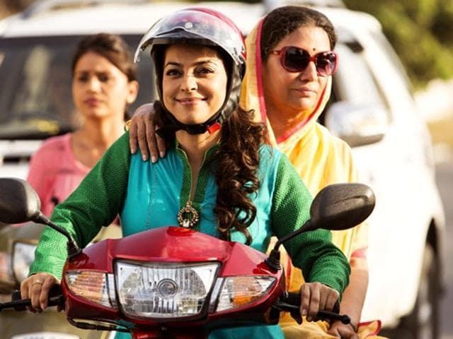 Juhi Chawla and Shabana Azmi in a still from Chalk N Duster.