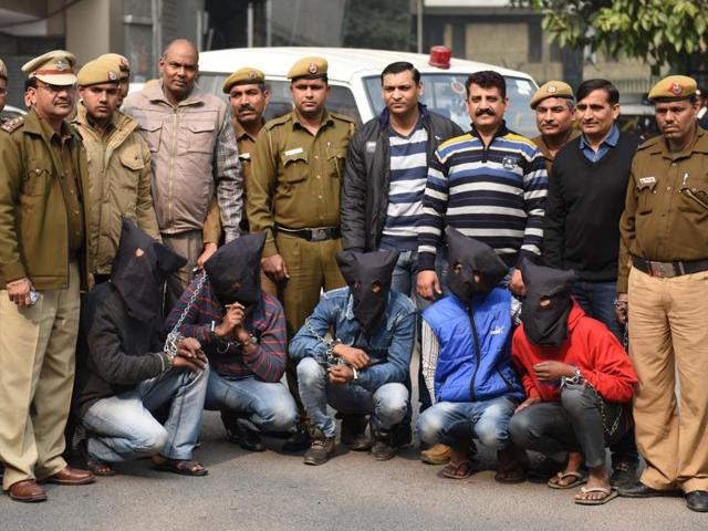 Five of the accused were arrested on Wednesday. The two juveniles have also been apprehended while the eighth accused is still at large.