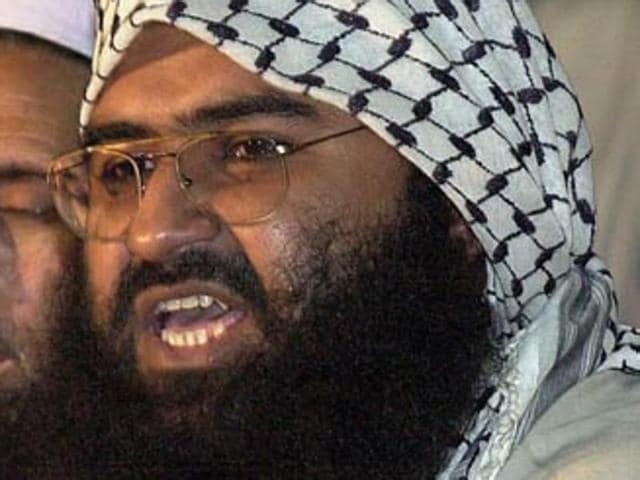 In this file photo taken on February 4, 2000 Maulana Masood Azhar, head of the JeM addressing a press conference in Karachi.