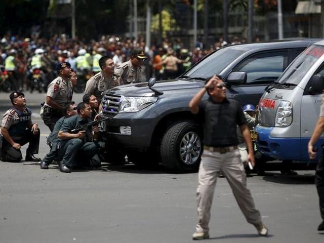 Explosions in Jakarta