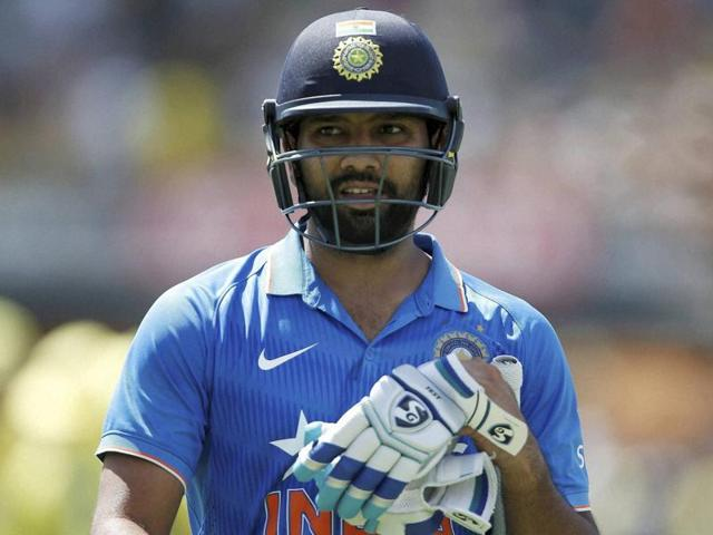 India's Rohit Sharma walks off the oval unbeaten on 171 runs during their one day international cricket match against Australia in Perth on January 12, 2016.