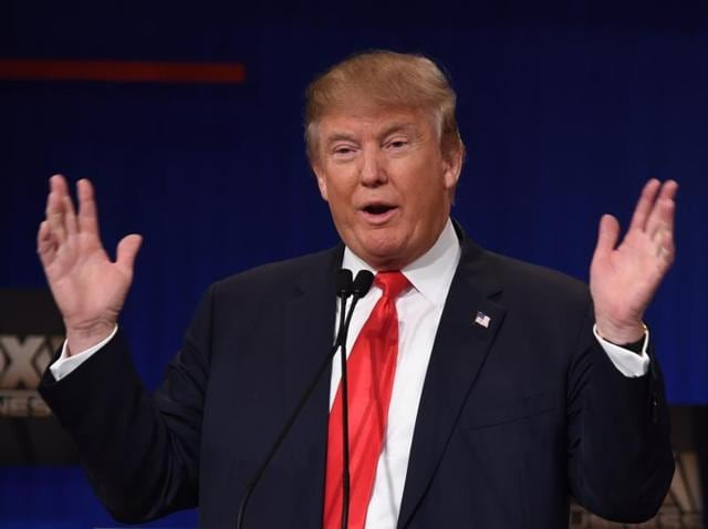 Republican candidate Donald Trump participates in the Republican Presidential debate, sponsored by Fox Business and the Republican National Committee in Charleston, South Carolina.