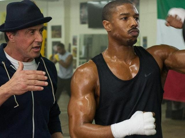 Sylvester Stallone and Michael B Jordon in  a still from Creed. Fans are not happy with the fact that Stallone has been nominated for Oscars while Jordon is not.