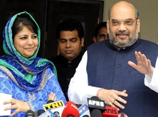 The BJP on Friday tried to bridge the gap by renewing contact with its alliance partner PDP in J-K.