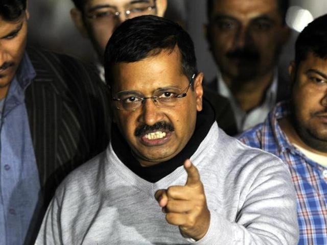 File photo of Delhi Chief Minister Arvind Kejriwal talking with media persons. An advocate has filed a criminal case against the CM for using 'defamatory and seditious' words against PM Modi.