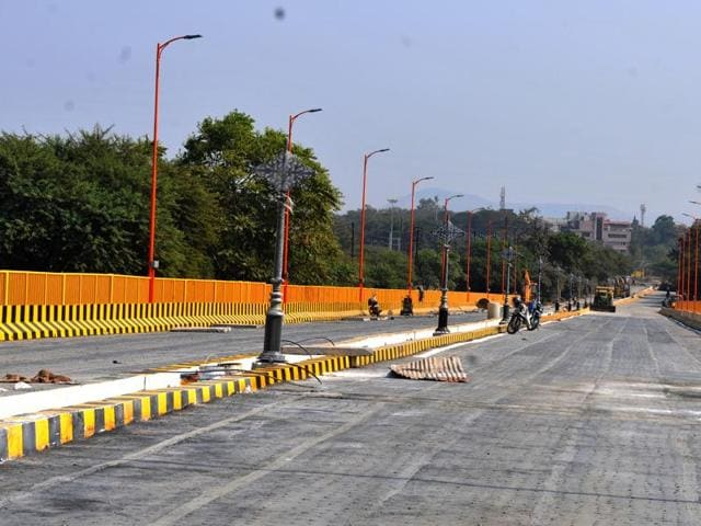 The 800-metre rail overbridge project was hanging fire for the last eight years and was finally completed under the supervision of the Madhya Pradesh high court.