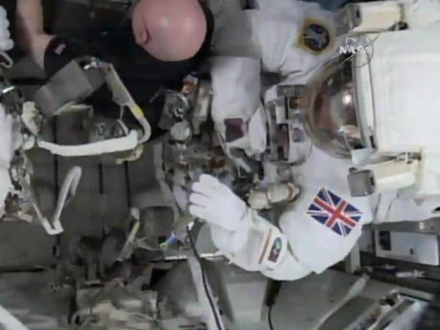 First British spacewalk