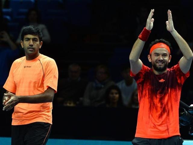 India's Rohan Bopanna (L) and Romania's Florin Mergea beat the Brazilian-Argentine duo of Thomaz Bellucci and Leonardo Mayer to enter the Sydney final on January 15.