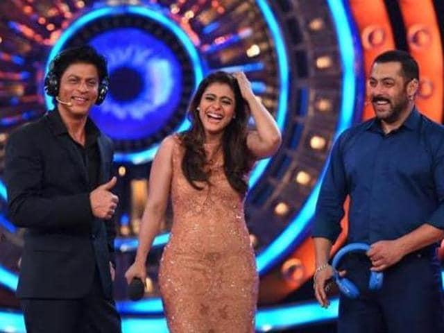 SRK, Kajol, Salman on the sets of Bigg Boss 9. (Colors TV)
