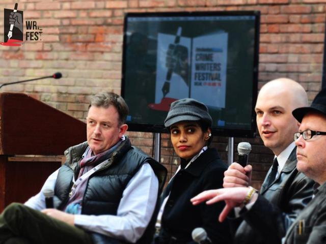 Tarquin Hall, Jane De Suza, Patrick Bryson and Zac O'Yeah at the Hindustan Times Crime Writers Festival 2015. Zac O'Yeah is back this year for the second edition