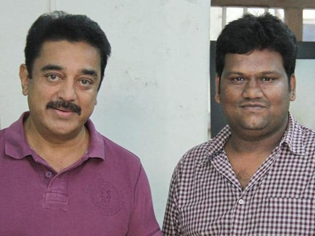 Rajesh M Selva was a former assistant of Kamal Haasan and directed him in Thoongaavanam.