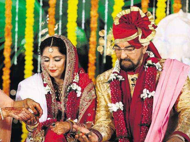 """Kabir's family and a few close friends had been whisked away on speedboats from the Gateway of India to Alibaug under the pretext of """"a pre-birthday bash"""" at a family member's house. The wedding came as a surprise for everyone."""