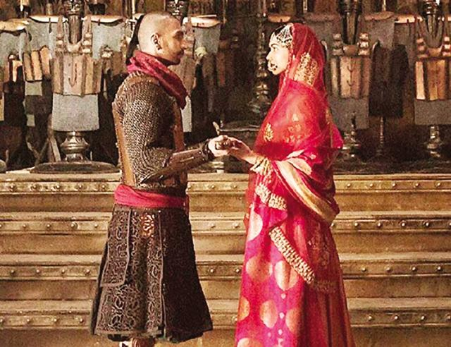 The royal look: Brocade was used for lehengas, sherwanis and ghararas in Bajirao Mastani.