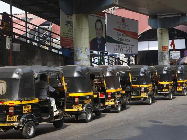 The autorickshaws - which may be painted pink or peach to distinguish them from the tens of thousands of male-driven, black-and-yellow tuk-tuks that ply Mumbai's congested streets.