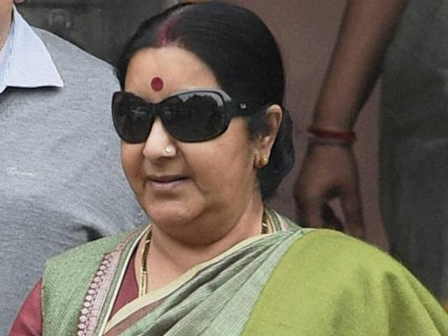 File photo of external affairs minister Sushma Swaraj. Israel is rolling out the red carpet for Swaraj, who is no stranger to the country.