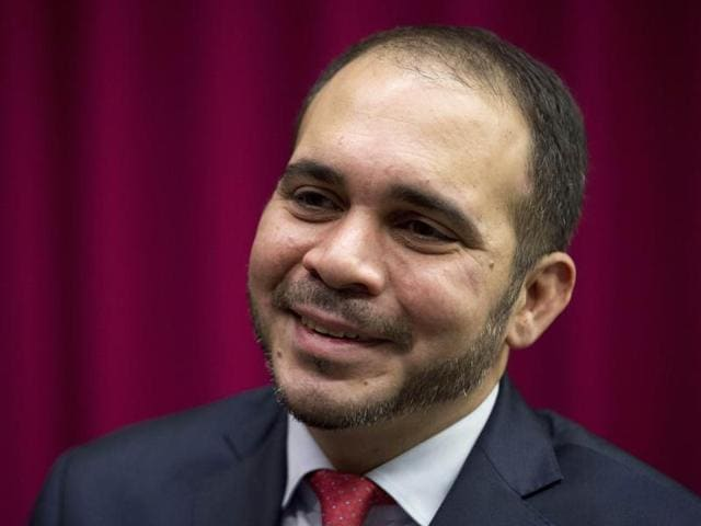 A file photo of  FIFA vice president Prince Ali bin al-Hussein speaking during an interview.