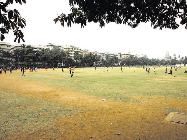 Oval maidan at Churchgate.