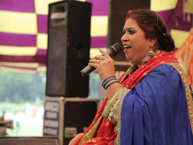Punjabi folk singer Manpreet Akhtar (55), sister of famous Punjabi singer Dilshad Akhtar.