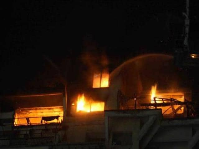 immigration offices,Jalandhar,fire