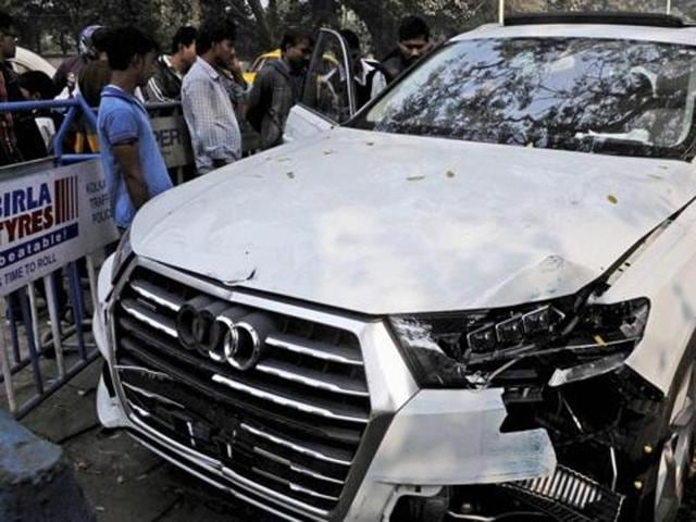 The Audi car that broke three barricades before entering into Red Road and killing an Air Force airman who was participating in a rehearsal for the upcoming Republic Day.