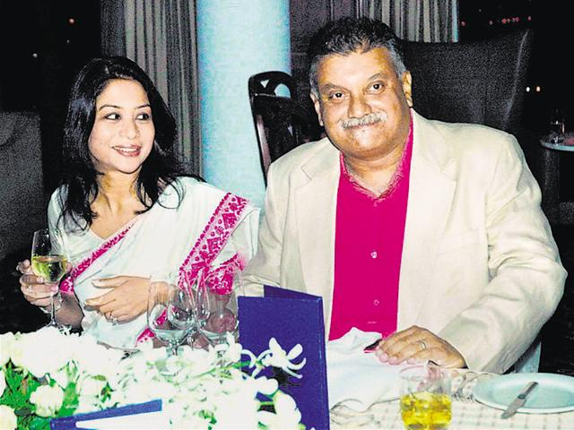 A file photo of Indrani Mukerjea and her husband Peter Mukerjea. Indrani was arrested by Mumbai Police for allegedly murdering her daughter Sheena and disposing of the body in Raigad in 2012.