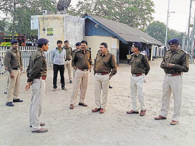Police at the Khirkiya railway station on Friday where right-wing activists attacked a Muslim couple after accusing them of carrying beef. On Saturday, local VHP and RSS units distanced themselves from such vigilantes, calling the attack a conspiracy